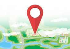 City map icon. GPS and navigation Stock Image