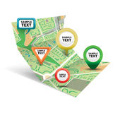 City map with Icons 3 Royalty Free Stock Image