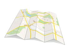 City map. Illustration of a city map of a fictive city Stock Photos