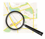 City map Royalty Free Stock Photography