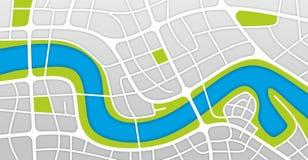 City map Stock Image