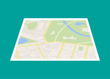City Map With Marker, Vector Icon Royalty Free Stock Photo