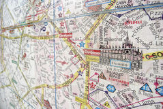 City map of Milan. City map of the city of Milan with the Duono in the foreground Royalty Free Stock Photos