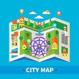 City map. Navigator Stock Photos