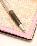 City map and a pen Royalty Free Stock Images