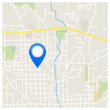 City Map Pointer Illustration. City Map Pointer Vector Illustration royalty free illustration