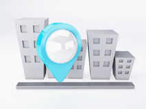 City with map Pointers. gps concept Royalty Free Stock Image
