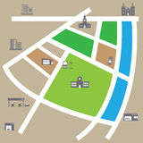 City map. Road and direction vector royalty free illustration