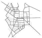 City map  - scheme of roads - vector Stock Photography