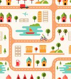 City map seamless background pattern Stock Photography