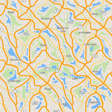 City map seamless pattern, use for travel design mockup Royalty Free Stock Photo
