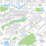 City map seamless pattern Stock Photo