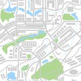 City map seamless pattern Stock Photo