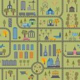 City map seamless pattern Royalty Free Stock Photography