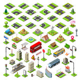 City Map Set 01 Tiles Isometric Royalty Free Stock Photo