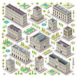 City Map Set 06 Tiles Isometric Stock Photography