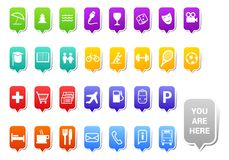City map tags Royalty Free Stock Images