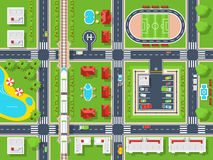 City Map Top view Royalty Free Stock Images