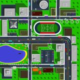 City map top view vector illustration. stock illustration