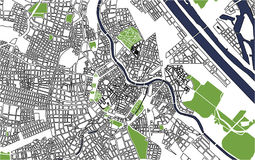 City Map of Vienna, Austria. Vector map of the city of Vienna, Austria Royalty Free Stock Photo