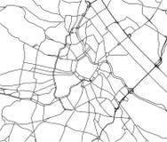 City Map of Vienna, Austria. Vector map of the city of Vienna, Austria Stock Photo