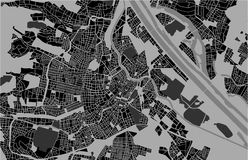 City Map of Vienna, Austria. Vector map of the city of Vienna, Austria Royalty Free Stock Images