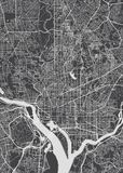 City map Washington, monochrome detailed plan, vector illustration vector illustration