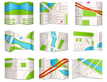 City maps. Collection of city navigational maps Royalty Free Stock Images