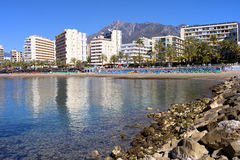 City of Marbella Bay in Spain Stock Photography
