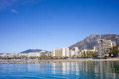 City of Marbella by the Mediterranean Sea in Spain Royalty Free Stock Photo