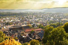 The City of Marburg in Germany royalty free stock image