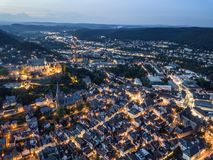 City of Marburg of night, Germany Royalty Free Stock Image