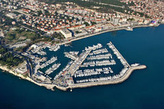 Aeral view of Marine in Split, Croatia Stock Image