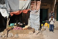 The city market of Hargeysa. Stock Images