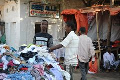 The city market of Hargeysa. Stock Photos