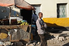 The city market of Hargeysa. Royalty Free Stock Photo