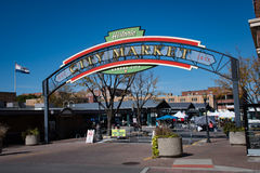 City market near the river in Kansas City Missouri. Stock Image