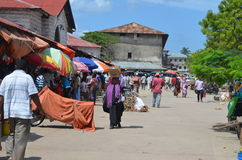 City Market in Stone Town. Stock Photo