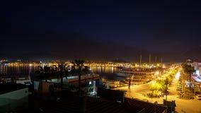 City of Marmaris. At night time stock photos