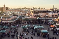 City of Marrakesh in Morocco Stock Images