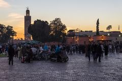 City of Marrakesh in Morocco Stock Image