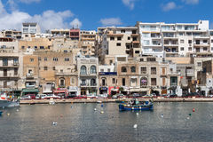 City Marsascala, island Malta, May 02, 2016 Royalty Free Stock Photography