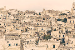 City of Matera old town close up view Stock Photography