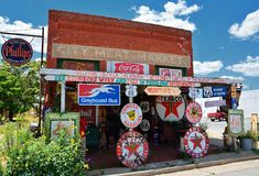 The City Meat Market in Erick, Oklahoma. Stock Images