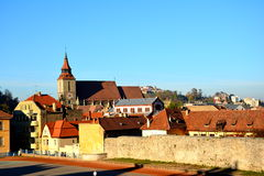 City medieval walls in Brasov Royalty Free Stock Photography