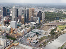 City of Melbourne, top view, Australia Royalty Free Stock Photo