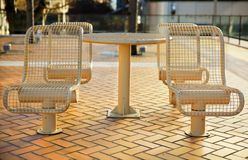 City Metal Picnic Seats Stock Image