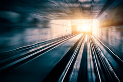 City Metro Rail, motion blur Stock Image