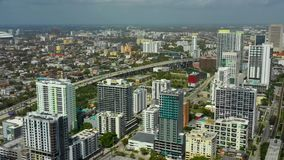 City of Miami aerial footage stock footage