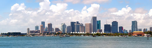 City of Miami, Florida downtown panorama Royalty Free Stock Photos